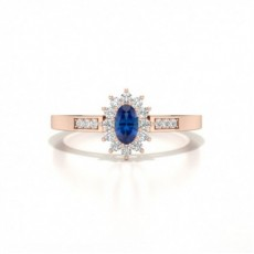 Rose Gold Sapphire Engagement Rings