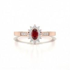 Rose Gold Ruby Engagement Rings