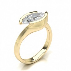 Marquise Yellow Gold Classic Solitaire Engagement Rings