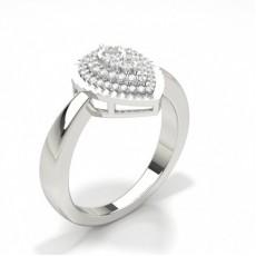 Silver Diamond Cluster Rings