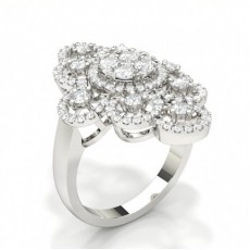 Silver Statement Diamond Rings