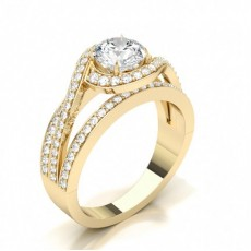 Marquise Yellow Gold Solitaire Engagement Rings