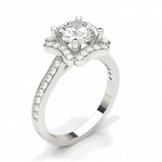 Marquise White Gold Halo Engagement Rings