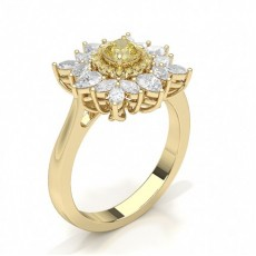Cushion Yellow Gold Yellow Diamond Engagement Engagement Rings