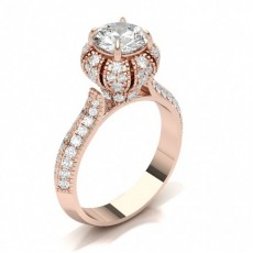 Marquise Rose Gold Solitaire Engagement Rings
