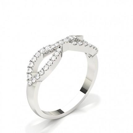 Pave Setting Round Diamond Fashion Ring