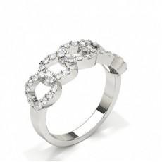 Full Bezel Setting Oval Diamond Fashion Ring