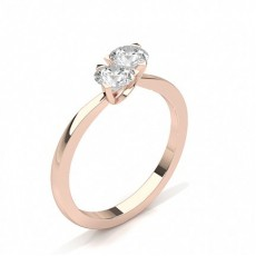 Rose Gold Two Stone Diamond Rings
