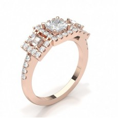 Rose Gold Trilogy Diamond Rings