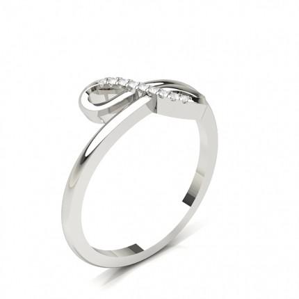 Prong Setting Round Diamond Promise Ring
