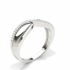 Prong Setting Round Diamond Promise Ring
