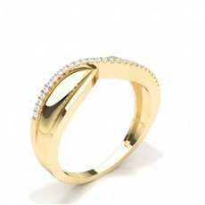 Round Yellow Gold Promise Diamond Rings