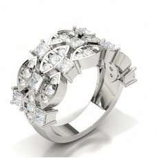 Silver Anniversary Diamond Rings