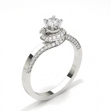 Prong Princess Blue Sapphire Fashion Ring