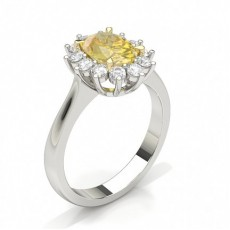Oval Yellow Diamond Engagement Rings