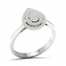 Platinum Engagement Cluster Rings