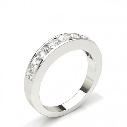 Channel Set Half Eternity Diamond Ring