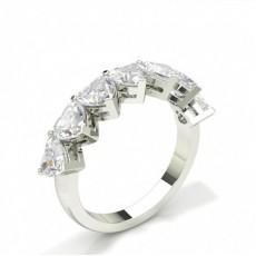 Heart Diamond Eternity Rings