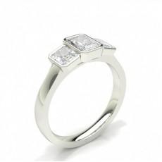 Radiant Three Stone Engagement Rings