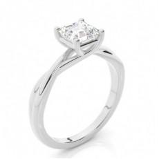 Asscher Solitaire Diamond Rings