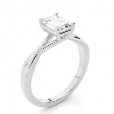 Emerald Classic Solitaire Engagement Rings