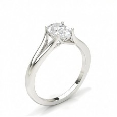 Pear Solitaire Diamond Rings