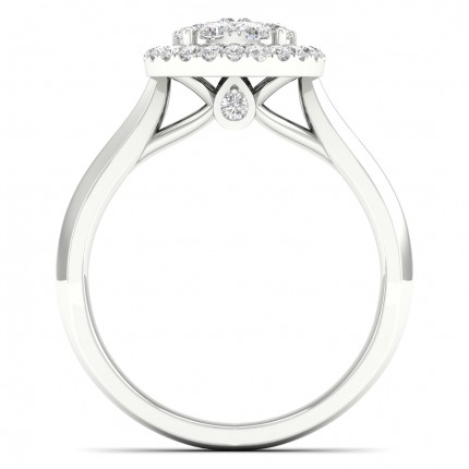 Pressure Setting  Princess Diamond Cluster Ring