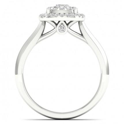 Micro Pave  Setting Princess Diamond Cluster Ring