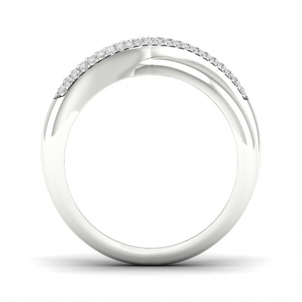 Micro Pave Setting Round Diamond Fashion Ring