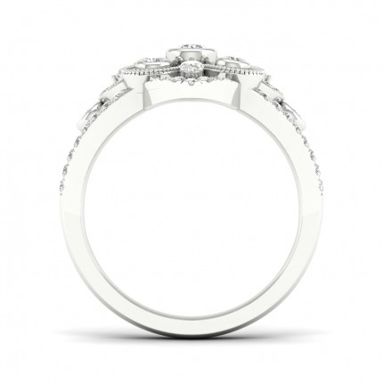 Full Bezel  Setting Round Diamond Fashion Ring
