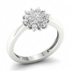 Prong Round  Diamond Halo Ring