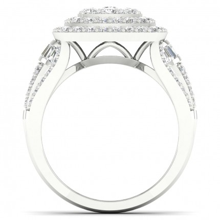 Micro Prong  Setting Baguette Diamond Fashion Ring