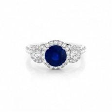 Round Sapphire Rings