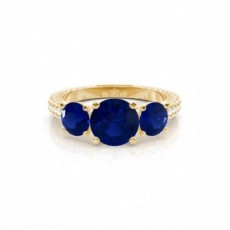 Yellow Gold Sapphire Engagement Rings