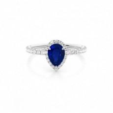 Pear Sapphire Rings