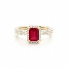 Emerald Ruby Rings