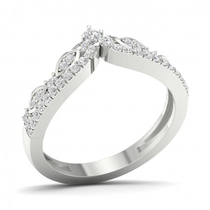 2.20mm Slight Comfort Fit Round Diamond Shaped Band