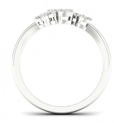 Micro Prong Setting Round Diamond Fashion Ring