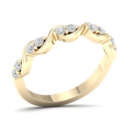 Prong Setting Round Diamond Half Eternity Ring