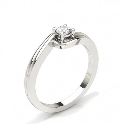 Tension Setting Round Diamond Engagement Ring