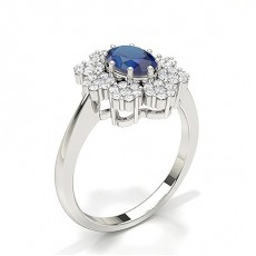 Oval Sapphire Rings