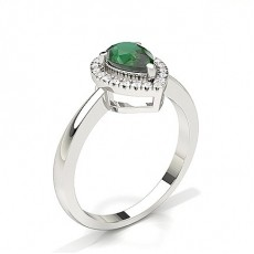 Pear Emerald Engagement Rings