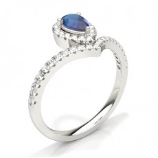 Pear Sapphire Engagement Rings