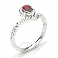 Pear Ruby Engagement Rings
