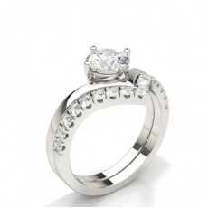 Asscher Bridal Set Engagement Rings