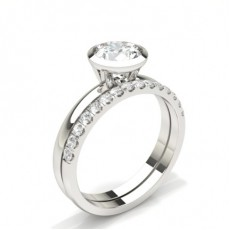 Radiant Bridal Set Engagement Rings