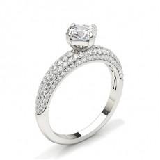 Asscher Side Stone Diamond Rings