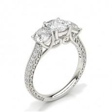Cushion Trilogy Diamond Rings