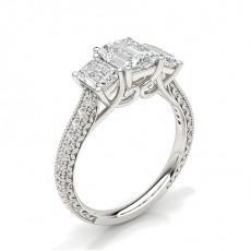 Radiant Trilogy Diamond Rings