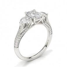Emerald Trilogy Diamond Rings